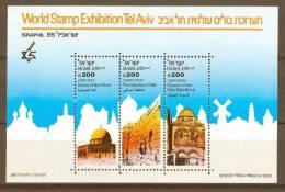 Israel - 1985, Michel/Philex No. : BLOCK 28, - MNH - *** - SHEET / BLOK - Blokken & Velletjes