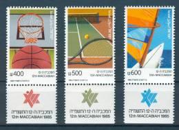 Israel - 1985, Michel/Philex No. : 1004-1006, - MNH - *** - - Ongebruikt (met Tabs)