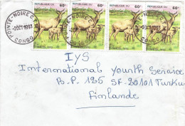 Congo 1993 Pointe Noire CTMT Antilope Hartebeest Cover - Congo - Brazzaville