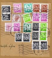 Bout D'enveloppe Cover Roi Baudouin Type Marchand Lunettes Gent X - 1953-1972 Glasses