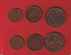 INDE   //  Lot De 3  Monnaies   //  COLONIE BRITANIQUE - India