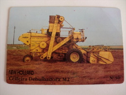 Ford Lusitana, SARL Combine Harvester Newholland Portugal Portuguese Pocket Calendar 1987 - Small : 1981-90