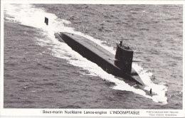 Al - Cpsm Petit Format Sous Marin Nucléaire Lance Engins L'INDOMPTABLE - Sottomarini
