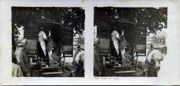 PESEE DE VIANDE THEME MILITARIA PHOTOS STEREOSCOPIQUES - Stereoscopic