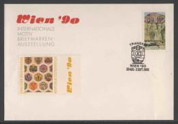 "Transkei South Africa 1989 Letter + Mi 233 + Postmark : : ""Wien '90 29 Aug.-2sept, 1990"" + Stamp Austria Minr. 1990 - Treinen"
