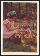 USSR Russia Stationery Card 1957 Mushrooms Picker Forest Child Pilze Wald Kinder Ganzsache °PK0107 MNH - Pilze