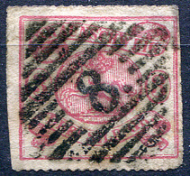 BRAUNSCHWEIG 1864 Wmk Posthorn Rouletted 16 - Mi.16A (Yv.10a, Sc.16) Used - Brunswick
