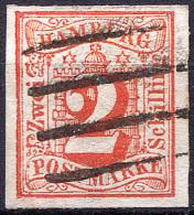 HAMBURG 1859 Wmk Imperf - Mi.3 (Yv.3, Sc.3) Used Large Margins (perfect) VF Signed Engel - Hamburg