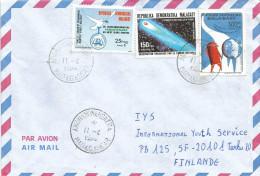 Madagascar 1994 Andranonahoatra Comet Halley 1986 Space Earth Dove Postal Day Cover - Brieven & Documenten