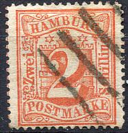 HAMBURG 1864 Wmk Perf.13.5 - Mi.13 (Yv.15, Sc.15) Used (perfect) VF - Hamburg