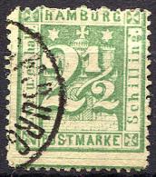 HAMBURG 1865 Wmk Perf.13.5 - Mi.14 (Yv.12, Sc.23a) Used (VF) Signed - Hamburg