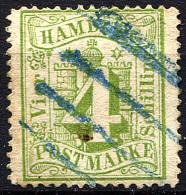 HAMBURG 1864 Wmk Perf.13.5 - Mi.16 (Yv.18, Sc.18) Used (perfect) VF - Hamburg
