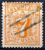HAMBURG 1864 Wmk Perf.13.5 - Mi.17 (Yv.19, Sc.19) Used (perfect) VF - Hamburg