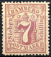 HAMBURG 1865 Wmk Perf.13.5 - Mi.19 (Yv.20, Sc.20) MNG (no Gum) VF - Hamburg
