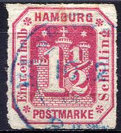 HAMBURG 1866 Rouletted 10 - Mi.21 (Yv.23, Sc.25) Used (perfect) VF - Hamburg