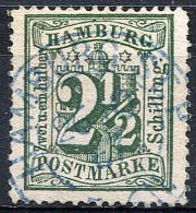 HAMBURG 1867 Wmk Perf.13.5 - Mi.22 (Yv.16, Sc.26) Used (blue Cancel) VF Signed - Hamburg