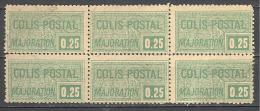 France:  Colis Postaux; Yvert N°78(*); Bloc De 6; Voir Scan - Parcel Post