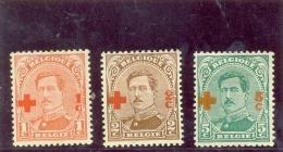1918 BELGIQUE Y & T N° 150 - 151 - 152 ( * ) Cote 2.00 - 1918 Croce Rossa