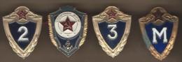 Union Soviétique /URSS/ 4 Insignes /Marine /  Entre 1960 Et 1980      D393 - Russie