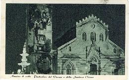 MESSINA DI NOTTE PARTICOLARE DEL DUOMO E FONTANA ORIONE 1948 - LT350 - Messina