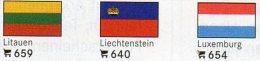 Vario 6-Pack In Farbe 3x2 Flaggen-Sticker 4€ Zur Kennzeichnung Von Alben+Sammlungen Firma LINDNER #600 Flag Of The World - Materiaal