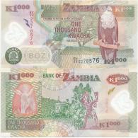Zambia 1000 Kwacha 2012. UNC Polymer Plastic Rare Year - Zambia
