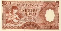 BILLET # INDONESIE # 1000 SERIBU RUPIAH  # PICK 61 # 1958 #  NEUF # - Indonesia