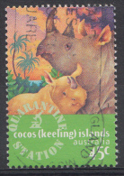 COCOS-ISLANDS  Mi.nr.346 Spitzmaulnashorn 1996  OBLITÉRÉS / USED / GESTEMPELD - Cocos (Keeling) Islands