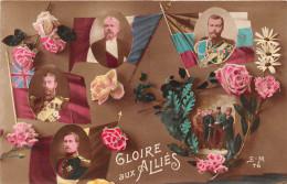 ¤¤  -  76  -  Carte Fantaisie Militaire  -  Gloire Aux Alliés  -  Nicolas II , Fleurs , Poilus   -  ¤¤ - Umoristiche