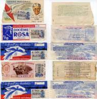 5 Billets De Loterie - Rosa, Les Gueules Cassées, Le Front Des Barbelés, Pour Nos Vieux (63432) - Billets De Loterie
