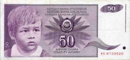 Yougoslavie Yugoslavia 50 Dinara 1 Juin 1990 P104 - Yougoslavie