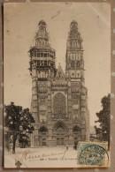 Carte Postale Ancienne Tours Indre Et Loire 37 La Cathédrale échafaudage Flêche Du Clocher - Tours