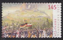 Duitsland - 175 Jahre Hambacher Fest - Selbstklebend - Gebruikt/gebraucht/used - Michel 2605 - Gebruikt