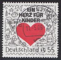 """Duitsland - Hilfsorganisation """"Ein Herz Für Kinder"""" - Gebruikt/gebraucht/used - Michel 2705 - Gebruikt"""