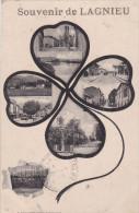 LAGNIEU - Carte Souvenir En Forme De Tréfle Multivues - (timbres Audos) - France
