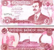 Iraq #80c, 5 Dinars, 1992, UNC - Irak
