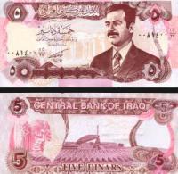 Iraq #80b, 5 Dinars, 1992, UNC / NEUF - Irak