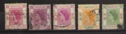 Hong Kong 1954 Elizabeth II 10c 50c 1$ 2$ 5$ - Usati