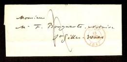 Voorloper Verstuurd Te GENT / GAND Dd. 15/6/1847 Naar ST - NIKLAAS  (zie 3 Scans) ! Inzet Aan 10 € ! - 1830-1849 (Belgique Indépendante)