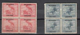 Ruanda-Urundi ocb nr : 72 75 *  MH  (zie  scan)