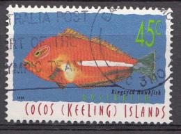 COCOS-ISLANDS  Mi.nr.351 Poisson Fische 1996  OBLITÉRÉS / USED / GESTEMPELD - Cocos (Keeling) Islands