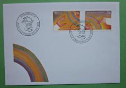 Brief Schweiz Weltpostverein 1999 Briefmarken - Lettres & Documents