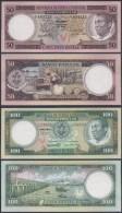 EQUATORIAL GUINEA SET 50 100 EKUELE 1975 PICK 10 11 SC- UNC- - Equatorial Guinea