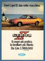# FORD CAPRI II 1970s Italy Car Advert Pub Pubblicità Reklame Auto Voiture Coche Carro - KFZ
