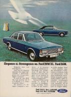 # FORD 20M XL - 26M 1970s Italy Car Advert Pub Pubblicità Reklame Auto Voiture Coche Carro - KFZ