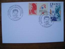 2013 Docteur Albert Schweitzer Centenaire Départ Pour L´Afrique, Strasbourg - Commemorative Postmarks