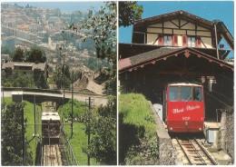 TRAIN Suisse - EISENBAHN Schweiz - VEVEY - Le Funiculaire Du Mont-Pélerin - 2 Vues - Trains