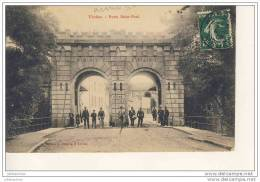 VERDUN PORTE  SAINT PAUL MISIQUE MILLITAIRE TAMBOUR CPA BON ETAT - Verdun
