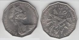 AUSTRALIE - AUSTRALIA **** 50 CENTS 1982 XII COMMONWEALTH GAMES **** EN ACHAT IMMEDIAT !!! - Monnaie Décimale (1966-...)
