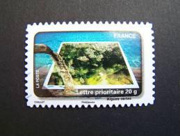 OBLITERE FRANCE ANNEE 2010 N° 411 LE TIMBRE FETE L´EAU LES ALGUES VERTES - France